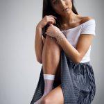 Naughty Brunette Sexy socks - XLondonEscorts